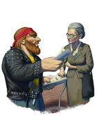Filler spot colour - character: dwarf punk - RPG Stock Art