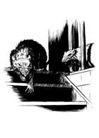 Filler spot - creature: giant rats prowling - RPG Stock Art