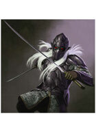 Colour card art - character: dark elf knight - RPG Stock Art