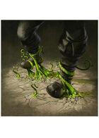 Colour card art - spell: entangling roots - RPG Stock Art