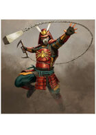 Colour card art - character: samurai spider armour - RPG Stock Art