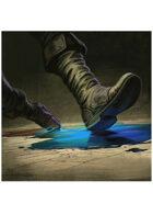 Colour card art - spell: grease - RPG Stock Art