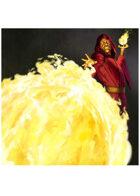 Colour card art - spell: fireball - RPG Stock Art
