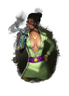 Filler spot colour - character: femme fatale - RPG Stock Art