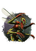 Filler spot colour - character: humanoid insect - RPG Stock Art