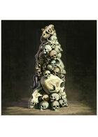 Colour card art - items: skull pillar - RPG Stock Art