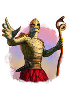 Filler spot colour - character: humanoid serpent priest - RPG Stock Art