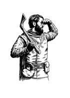 Filler spot - character: woodsman - RPG Stock Art