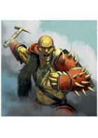 Colour card art - character: temeran warrior - RPG Stock Art