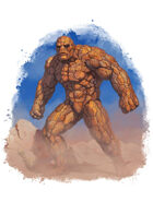Filler spot colour - character: earth elemental - RPG Stock Art