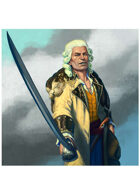 Colour card art - character: selkie pirate - RPG Stock Art