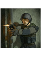 Colour card art - character: soldier - RPG Stock Art