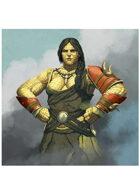 Colour card art - character: temeran matriach - RPG Stock Art