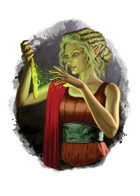 Filler spot colour - character: elf enchanter - RPG Stock Art