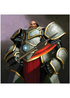 Colour card art - character: dwarven rune armour - RPG Stock Art