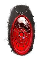 Filler spot colour - items: amulet: spiderweb - RPG Stock Art