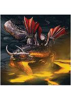 Colour card art - dragon: underworld - RPG Stock Art
