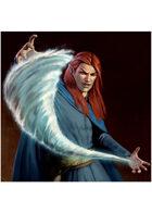 Colour card art - spell: conjure water - RPG Stock Art