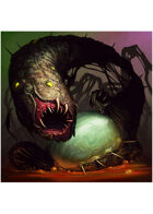 Colour card art - creature: shoggoth spawn - RPG Stock Art