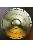 Colour card art - items: shield: round metal - RPG Stock Art
