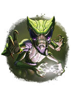 Filler spot colour - character: humanoid mantis - RPG Stock Art