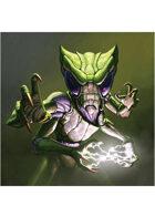 Colour card art - character: humanoid mantis - RPG Stock Art