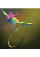 Colour card art - creature: fae spirit - RPG Stock Art