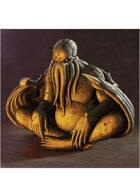 Colour card art - items: cthulhu statue - RPG Stock Art