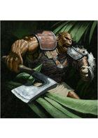 Colour card art - character: ogre tank - RPG Stock Art