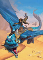 Cover full page - Blue Dragon - RPG Stock Art