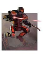 Filler spot colour line - vehicles: power suit mech - RPG Stock Art