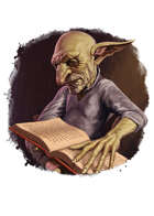 Filler spot colour - character: goblin scholar - RPG Stock Art