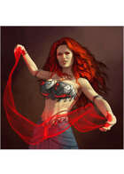 Colour card art - character: sorceress - RPG Stock Art