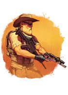 Filler spot colour - character: wasteland zoner - RPG Stock Art