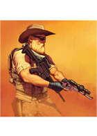 Colour card art - character: wasteland zoner - RPG Stock Art