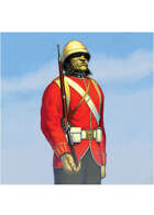 Colour card art - character: troll red coat - RPG Stock Art
