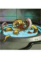Colour card art - creature: mind hacker - RPG Stock Art