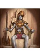 Colour card art - character: undead atlantian king - RPG Stock Art