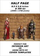 Half page - Line Up - RPG Stock Art