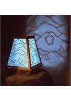 Colour card art - items: map lantern - RPG Stock Art