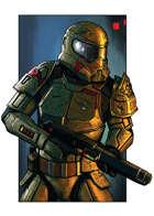 Filler spot colour line - character: heavy trooper - RPG Stock Art