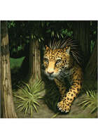 Colour card art - creature: jaguar porcupine - RPG Stock Art