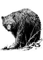 Filler spot - creature: black bear - RPG Stock Art