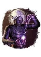 Filler spot colour - character: drow apprentice - RPG Stock Art