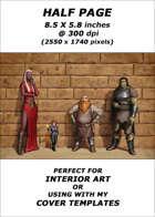 Half page - Line Up Alternate Version - RPG Stock Art