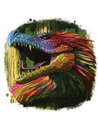 Filler spot colour - creature: feathered serpent - RPG Stock Art