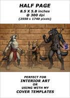 Half page - Line Up Varg - RPG Stock Art