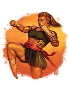 Filler spot colour - character: dwarf martial arts brawler - RPG Stock Art