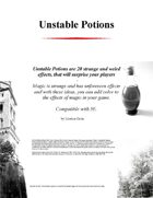 Unstable Potions for 5E