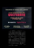 wounds font
